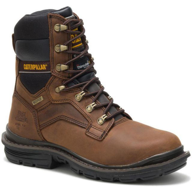 "CAT - Caterpillar Men's Flexion Generator 8"" Waterproof Steel Toe Work Boot"