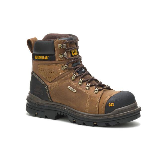 """CAT - Caterpillar Men's Hauler 6"""" Waterproof Composite Toe Work Boot"""