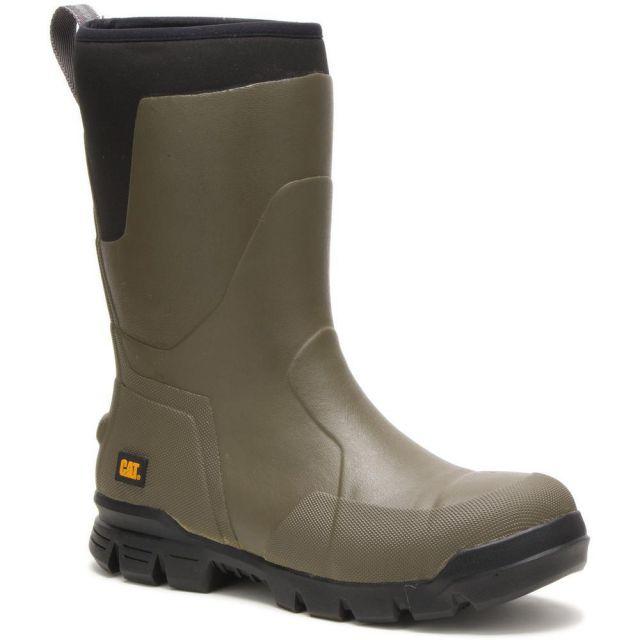 "CAT - Caterpillar Stormers 11"" Steel Toe Work Rubber Boot (Unisex)"